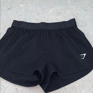 NWT black gym shark shorts